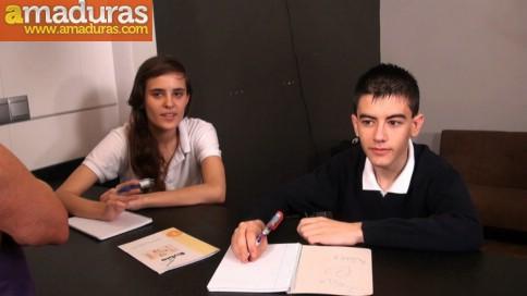 Ainara y Jordi aprenden inglés follando - foto 1