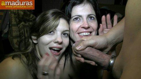 Bestial trio español con una madura y una veinteañera - foto 36