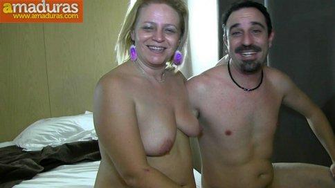 Madura jamona española y su marido: debut porno - foto 42