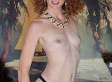 Madura pelirroja se exhibe en la webcam porno - foto 6