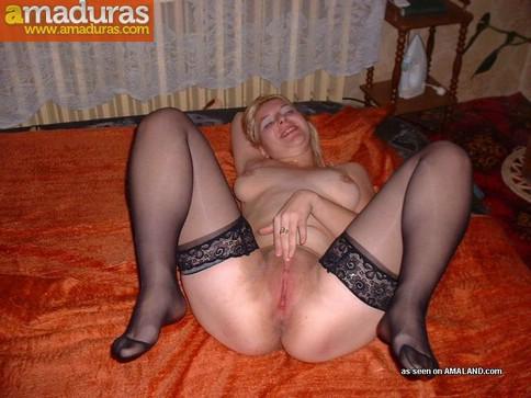 Fotos porno amateur de una madurita rubia - foto 4