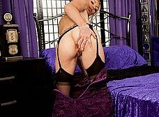 Esposa madurita en medias negras sexys - foto 6