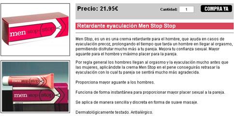 Retardante eyaculación Men Stop Stop