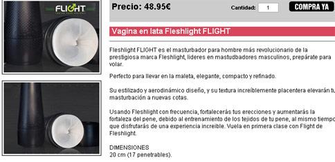 Vagina en lata Fleshlight FLIGHT