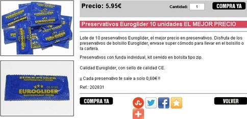 Preservativos Euroglider 10 unidades: OFERTON!