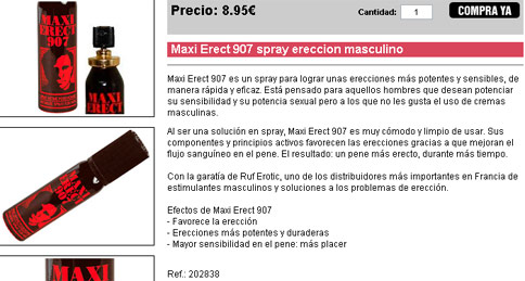 Maxi Erect 907 spray ereccion masculino