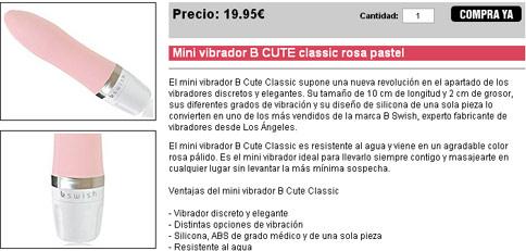 Mini vibrador B CUTE classic rosa pastel