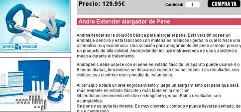Andro Extender alargador de Pene