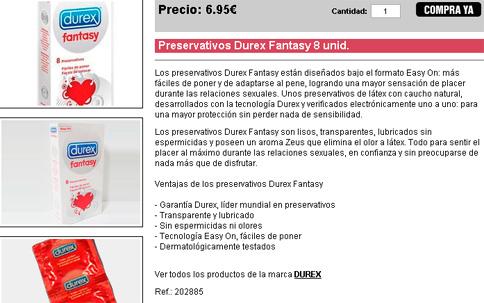 Caja de preservativos Durex Fantasy
