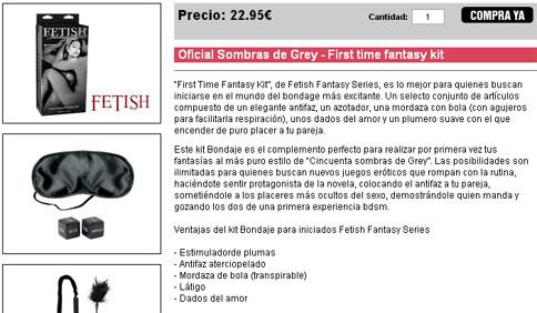 Oficial Sombras de Grey – Fantasy kit