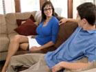 Me encanta ver la televisión con mamá