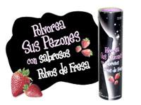 Polvos sabrosos de fresa para los pezones
