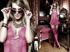 Lenceria sexy: vestido de color frambuesa + liguero