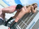 Acosado y follado en la terraza por Nicole Aniston