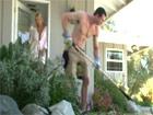 Madura infiel se lo monta con el jardinero
