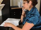 Madura administrativa se masturba en el trabajo