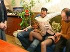 Madura francesa disfrutando de un gang bang