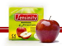 Preservativos Sensinity 4 unid. manzana