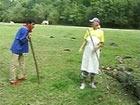 Madura granjera follandose a un pastor