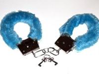 Esposas peluche Azules